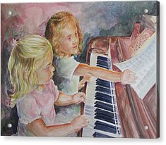 The Piano Lesson Acrylic Print