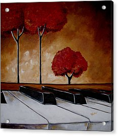The Piano Man's Dream Acrylic Print by Vickie Warner