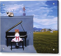 The Piano Player Acrylic Print by Michael Bridges