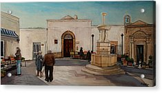 The Piazza Acrylic Print by Anne Parker
