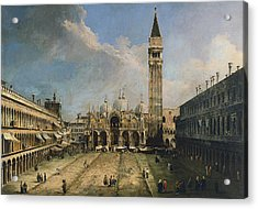 The Piazza San Marco In Venice Acrylic Print by Canaletto
