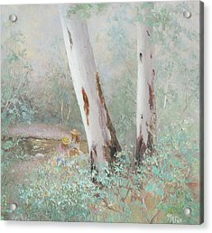 The Picnic By The Stream Acrylic Print
