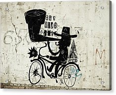 The Picture Shows A Man Who Rides A Acrylic Print by Dmitriip