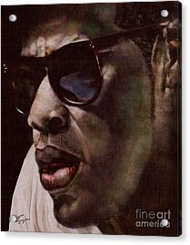 The Pied Piper Of Intrigue - Jay Z Acrylic Print by Reggie Duffie