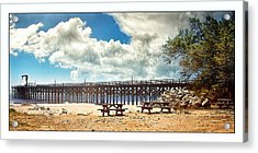 The Pier At Gaviotta Acrylic Print by Steve Benefiel