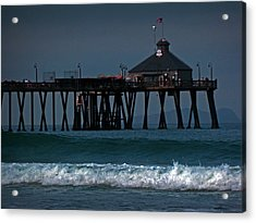 The Pier At Imperial Beach Acrylic Print by Steve Battle