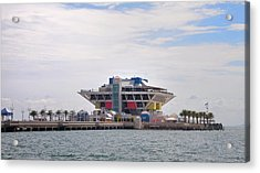 The Pier At St Petersburg Acrylic Print by Bill Cannon
