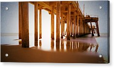 The Pier Acrylic Print by Heidi Smith