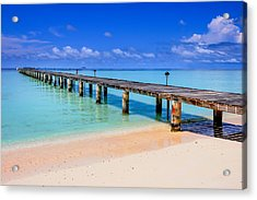 The Pier Into The Blue Heaven Acrylic Print
