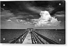 The Pier Acrylic Print by Marvin Spates