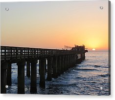 Acrylic Print featuring the photograph The Pier by Ramona Johnston