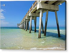 The Pier Acrylic Print by Thomas Fouch