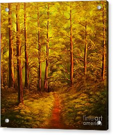 The Pine Tree Forest-original Sold-buy Giclee Print Nr 34 Of Limited Edition Of 40 Prints  Acrylic Print by Eddie Michael Beck
