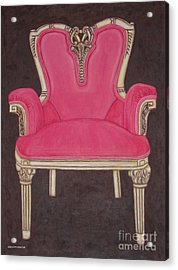 The Pink Chair Acrylic Print by Margaret Newcomb