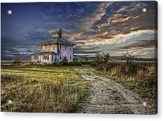 The Pink House - Color Acrylic Print