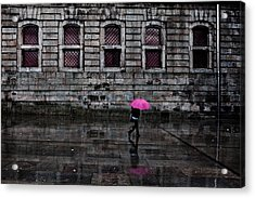 The Pink Umbrella Acrylic Print