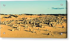 Acrylic Print featuring the photograph The Pinnacles Australia by Yew Kwang