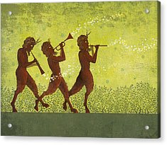 The Pipers 3 Acrylic Print by Dennis Wunsch