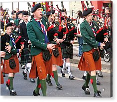 Acrylic Print featuring the photograph The Pipers by Suzanne Oesterling