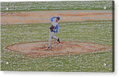 The Pitcher Digital Art Acrylic Print by Thomas Woolworth