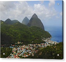 The Pitons And Soufriere Acrylic Print