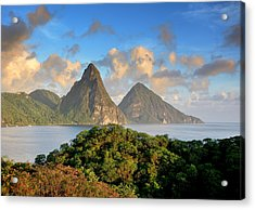 The Pitons - Saint Lucia Acrylic Print by Brendan Reals