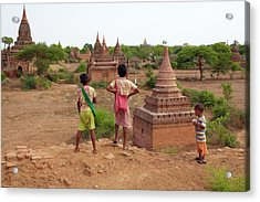 The Plains Of Bagan Acrylic Print by Zhang Bo