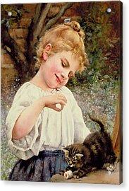 The Playful Kitten Acrylic Print by Leo Malempre