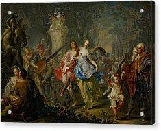 The Pleasures Of The Seasons     Spring Acrylic Print by Johann Georg Platzer