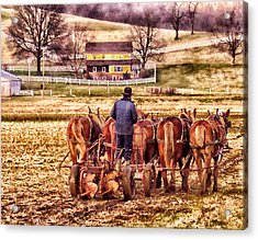 The Plow Acrylic Print by B Wayne Mullins