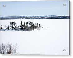 The Point In Winter Pinheys Point Ontario Acrylic Print
