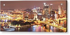 The Point To Ft. Pitt Acrylic Print by Adam Jewell