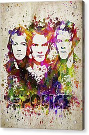 The Police In Color Acrylic Print by Aged Pixel