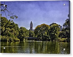The Pond - Central Park Acrylic Print by Madeline Ellis
