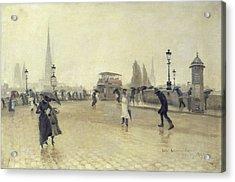 The Pont Corneille, Rouen, 1891 Oil On Canvas Acrylic Print by Leon Lemaitre
