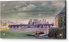 The Pont-neuf And The Ile De La Cite Acrylic Print