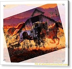 The Pony Express Acrylic Print by PainterArtist FIN