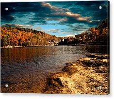 The Pool Below Upper Falls Rumford Maine Acrylic Print by Bob Orsillo