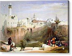The Pool  Of Bethesda Jerusalem Acrylic Print by Munir Alawi