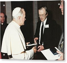 The Pope And Maurice Wilkins Acrylic Print by King's College London Archives