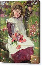 The Poppy Gatherer Acrylic Print by David Fulton