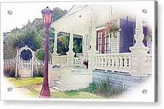 The Porch Lamp Post And The Gate Acrylic Print by Becky Lupe