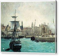 The Port At Calais Acrylic Print by Edouard Manet