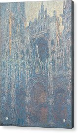 The Portal Of Rouen Cathedral In Morning Light Acrylic Print by Claude Monet