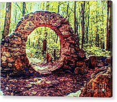 The Portal To Love Life Peace 1 Acrylic Print by Becky Lupe