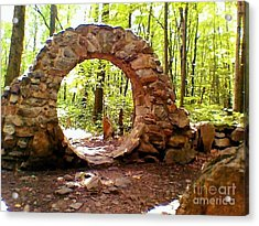 The Portal To Love Life Peace Acrylic Print by Becky Lupe