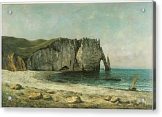 The Porte D'aval At Etretat Acrylic Print by Gustave Courbet