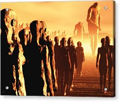 Acrylic Print featuring the digital art The Post Apocalyptic Gods by John Alexander