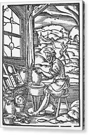 The Potter, 1574 Acrylic Print by Jost Amman
