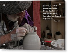 The Potter's Hand Acrylic Print by Natalie Ortiz